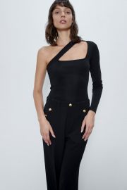 ASYMMETRIC KNIT BODYSUIT at Zara