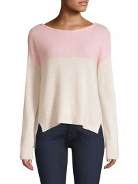 ATM Anthony Thomas Melillo - Cashmere Colorblocked Sweater at Saks Fifth Avenue