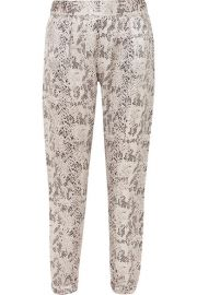 ATM Anthony Thomas Melillo - Snake-print silk-charmeuse track pants at Net A Porter