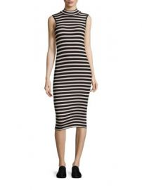 ATM Anthony Thomas Melillo - Striped Rib-Knit Dress at Saks Fifth Avenue