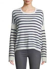 ATM Anthony Thomas Melillo Block-Striped Cashmere Crewneck Sweater at Neiman Marcus