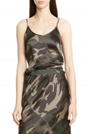 ATM Anthony Thomas Melillo Camo Print Silk Camisole   Nordstrom at Nordstrom