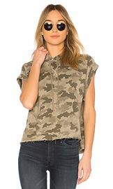 ATM Anthony Thomas Melillo Hooded Pullover Top in Sage Camo from Revolve com at Revolve