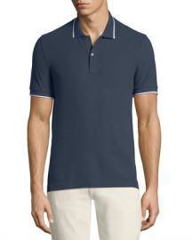 ATM Anthony Thomas Melillo Men  x27 s Tipping-Detail Polo Shirt at Neiman Marcus
