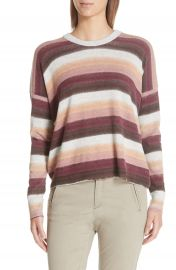 ATM Anthony Thomas Melillo Stripe Cotton  amp  Cashmere Sweater   Nordstrom at Nordstrom
