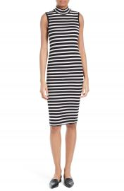 ATM Anthony Thomas Melillo Stripe Rib Jersey Dress at Nordstrom