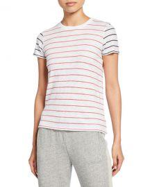 ATM Anthony Thomas Melillo Striped Slub Jersey Short-Sleeve Cotton Tee at Neiman Marcus