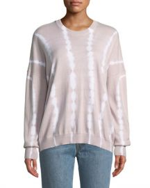 ATM Anthony Thomas Melillo Tie-Dye Cotton-Cashmere Crewneck Sweater at Neiman Marcus