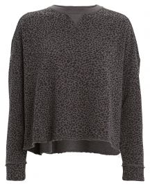 ATM French Terry Leopard Sweatshirt at Intermix