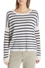 ATM Stripe cashmere sweater at Nordstrom Rack
