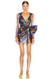 ATTICO Tulle Striped Mini Dress in Multicolor   FWRD at Forward