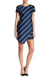Abbey Stripe Asymmetrical Hem Shift Dress by Cynthia Steffe at Nordstrom Rack