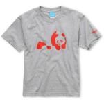 Abed's grey and red panda shirt at Amazon