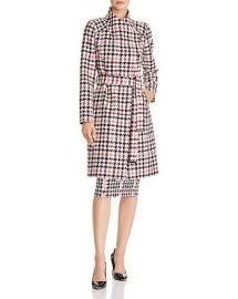 Abellaa Houndstooth Belted Coat by Ted Baker at Bloomingdales