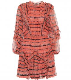 Aberdeen silk-chiffon minidress at Mytheresa
