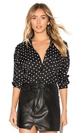About Us Damon Button Up Shirt in Black Polka Dot from Revolve com at Revolve