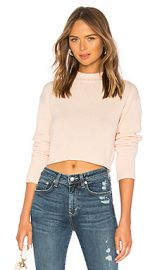 About Us Darla Cuffed Sweater in Light Peach from Revolve com at Revolve