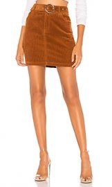 About Us Jenny Belted Mini Skirt in Tan from Revolve com at Revolve