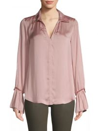 Abriana Ruffle Cuff Satin Shirt by Paige Jeans at Saks Fifth Avenue