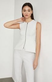 Abrielle Sleeveless Peplum Top at BCBGMAXAZRIA