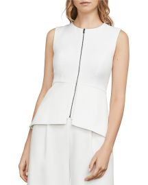 Abrielle Zip-Front Peplum Top by Bcbgmaxazria at Bloomingdales