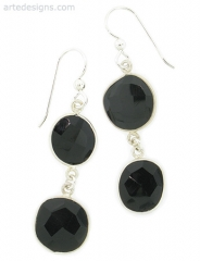 Abstract Black Spinel Earrings at Arte Designs
