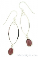 Abstract Garnet Earrings at Arte Designs