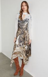 Abstract Landscape Handkerchief Dress at BCBGMAXAZRIA