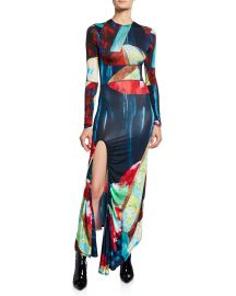 Abstract Multicolor Jersey Maxi Dress at Bergdorf Goodman