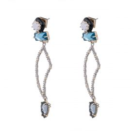 Abstract Petal Dangling Post Earring at Alexis Bittar
