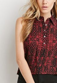 Abstract Print Buttoned Shirt  Forever 21 - 2000053473 at Forever 21