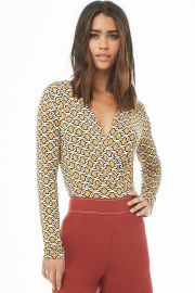 Abstract Print Surplice Top at Forever 21