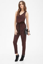 Abstract Printed Jumpsuit  LOVE21 - 2000081500 at Forever 21