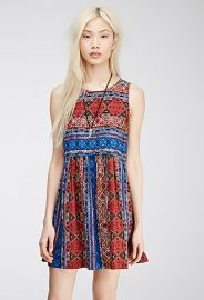 Abstract Tile Print Dress at Forever 21