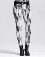 Abstract print pants by Derek Lam at Neiman Marcus