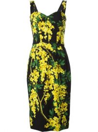 Acacia Print Dress by Dolce and Gabbana at Farfetch