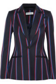 Acacia striped wool and cotton-blend blazer at The Outnet