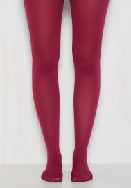 Accent Your Ensemble Tights in Cranberry at ModCloth