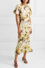 Acid Floral Organza Midi Dress by Georgia Alice at Net A Porter