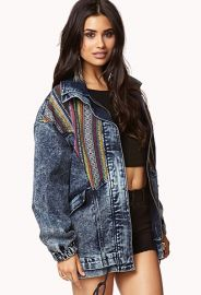 Acid Wash Southern Western Denim Jacket by Forever 21 at Forever 21