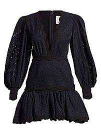 Acler - Montana Embroidery Flounce Mini Dress at Saks Fifth Avenue