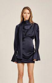 Acler Soto Tie-Neck Tucked Mini Dress at Moda Operandi
