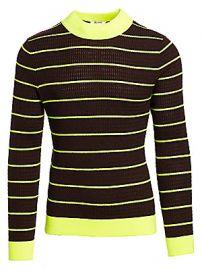 Acne Studios - Kadison Neon Stripe Merino Wool Sweater at Saks Fifth Avenue