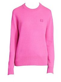 Acne Studios - Nalon Face Crewneck Sweater at Saks Fifth Avenue