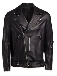 Acne Studios - Nate Clean Leather Moto Jacket at Saks Fifth Avenue