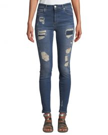Acynetic Quincy Mica Distressed Skinny Ankle Jeans at Neiman Marcus