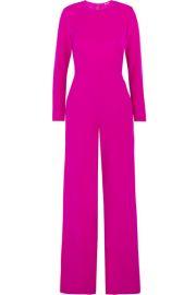 Adam Lippes   Chiffon-paneled silk-crepe jumpsuit at Net A Porter
