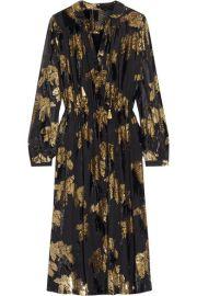 Adam Lippes - Flocked jacquard midi dress at Net A Porter