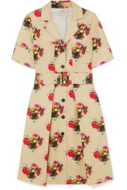 Adam Lippes - Floral-print belted cotton-twill dress at Net A Porter