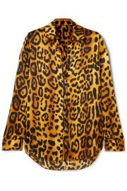 Adam Lippes - Leopard-print hammered silk-crepe shirt at Net A Porter